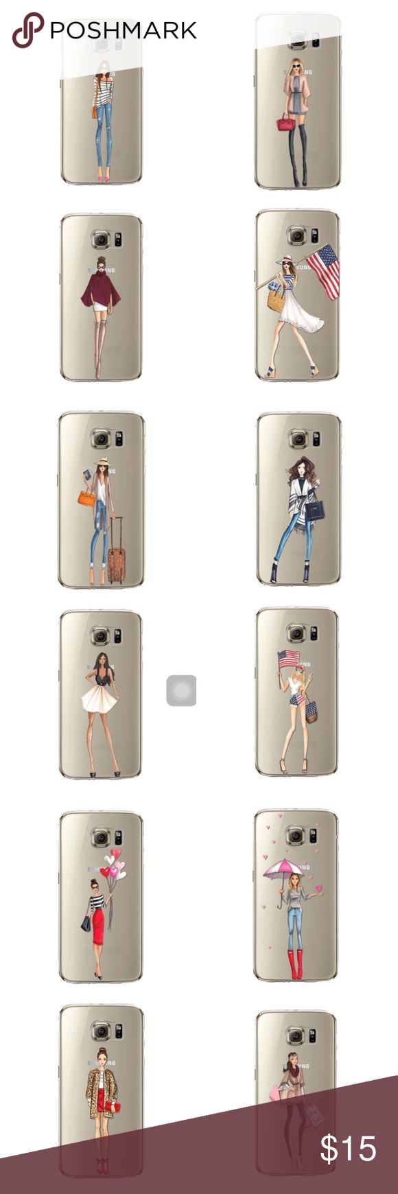 Pre-Order Fashion Girl Case Samsung Galaxy S7 Edge Available for pre-order, comment which case you'd like and I'll create a custom listing and tag you when it comes in  Accessories Phone Cases