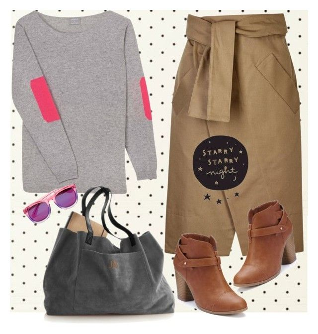 """""""en douceur"""" by kazumiwannabe ❤ liked on Polyvore featuring Kate Spade, Orwell + Austen, Each X Other, LC Lauren Conrad and Wildfox"""