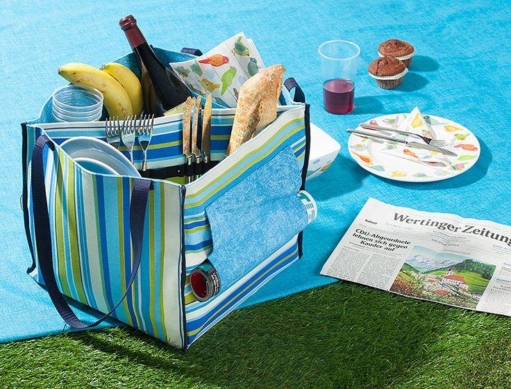 Nähanleitung: Praktische Picknicktasche nähen