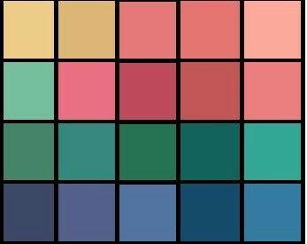 Мягкая осень. Относительно яркие цвета  палитры - это  цветовые  акценты. Их  используют  туда, куда  хотите  привлечь  внимание.  Часто  их используют в  вечернем  гардеробе  и  в  аксессуарах.
