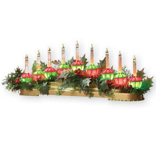Christmas Tabletop Candle Decor Fireplace Centerpiece Bubble Light Xmas Ornament #SmartDealsMarket
