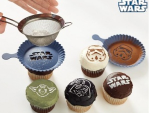 """A long time ago, in a galaxy far, far away, a Jedi master chef used the Force to create dynamic kitchen gear known as """"cupcake stencils."""" - $19.99"""