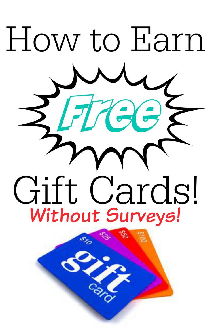 Ways to Earn Free Gift Cards without taking a ton of surveys!