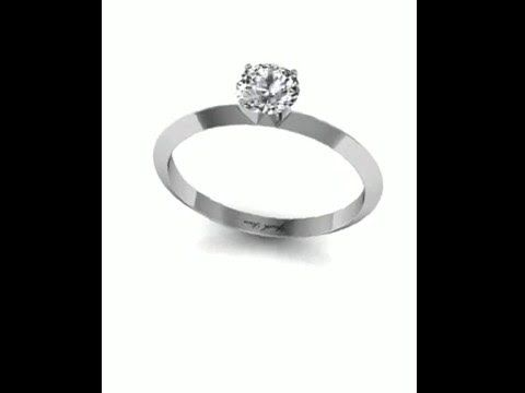 Engagement Ring 07.  White Gold