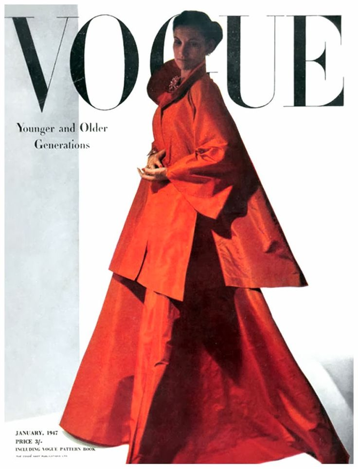 1947 Vogue cover Jan 1947 Photo Horst P.Horst