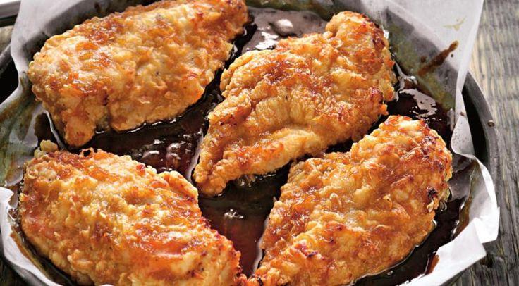 Курица, запеченная с соусом терияки