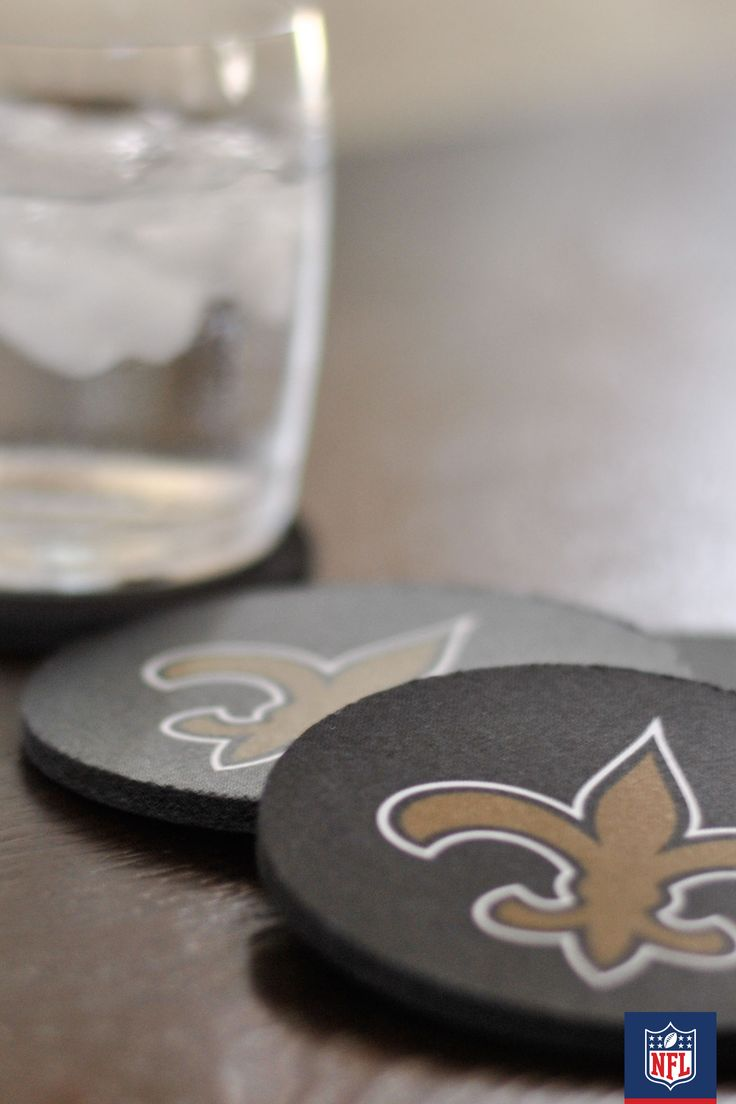 accessorize your coffee table with new orleans saints coasters its all in the details