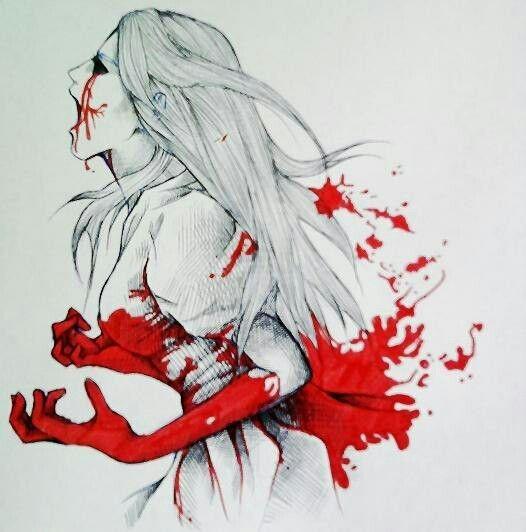 Картинки кровавые для срисовки