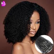 Image result for curly afro kinky clip ins