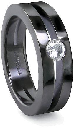 Mens titanium wedding rings