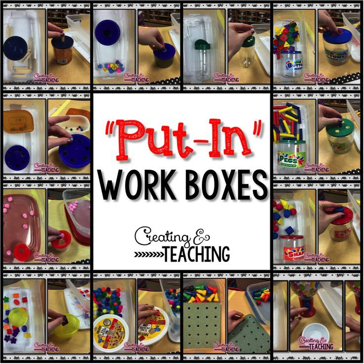 This post has some really great tips on how to use these boxes in your classroom including setting up a schedule to ensure students do different boxes every day.  There are lots of pictures of many different task boxes you can make at almost no cost using supplies you have at home.  Read more at:  http://creatingandteaching.blogspot.com/2015/02/whats-in-my-work-boxes.html?m=1