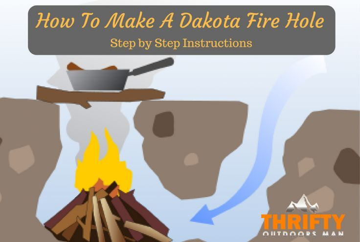 How to make a dakota fire hole                                                                                                                                                                                 More