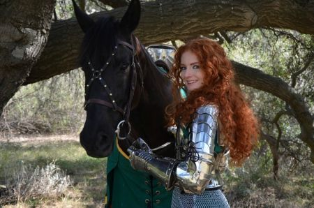 'Merida The Brave' - Long Hair, Redhead, Quote, Red Hair, Horse, Merida, Female, Brave, Curly Hair, Armour