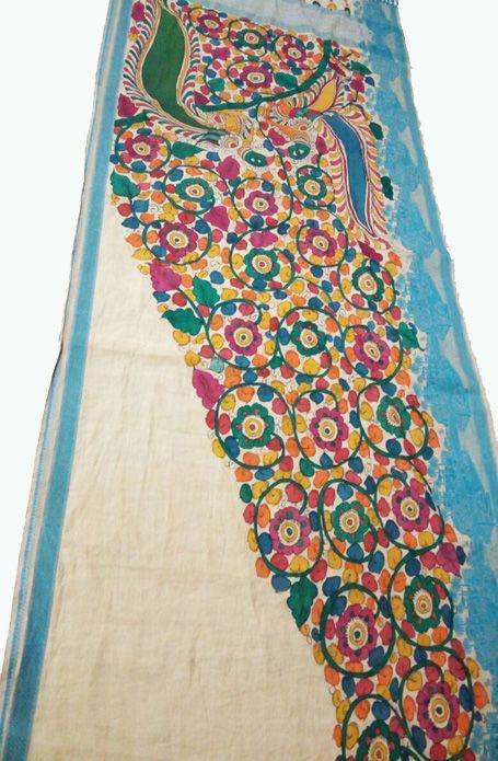 Buy Multicolor Handloom Kalamkari Chanderi Silk Saree-prod_e16W.jpg