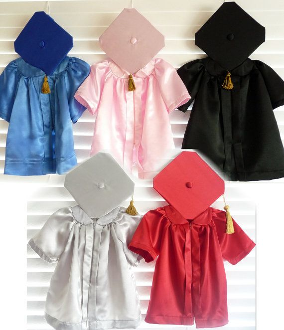 Infant Graduation Cap and Gown/ Robe by AleneCutlerCreations, $58.00