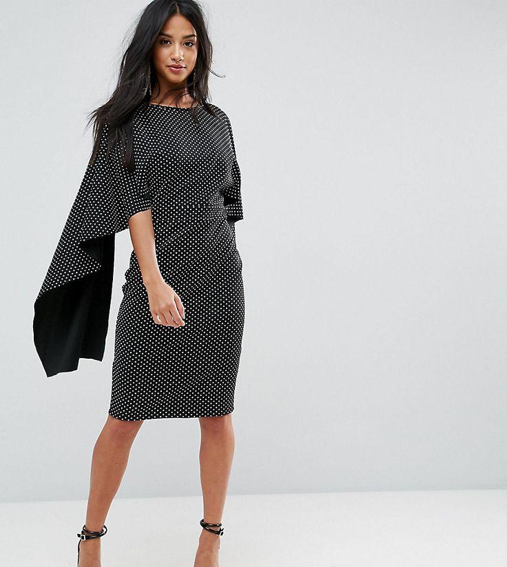 City goddess scoop neck midi dress with lace trim