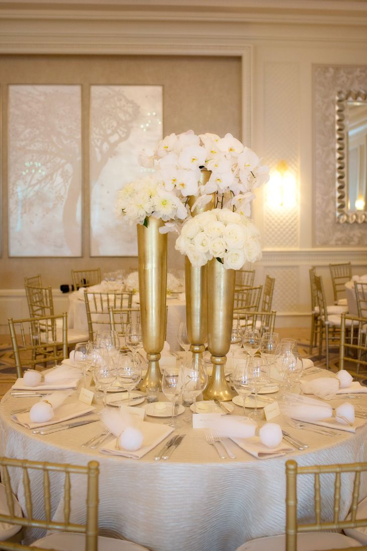 56 best gold and white wedding images on pinterest white gold vases with white flowers at four seasons boston wedding reviewsmspy