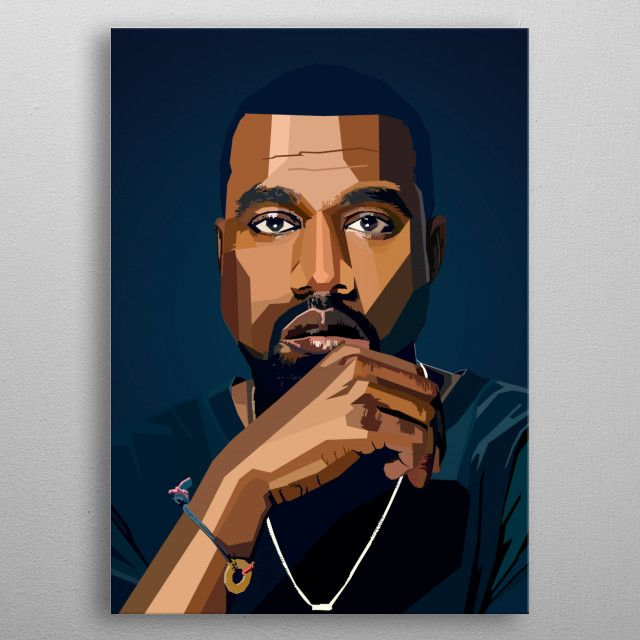 Kanye West Wpap Pop Art Metal Poster Nguyen Dinh Long Displate In 2020 Pop Art Hip Hop Artwork Kanye West Painting