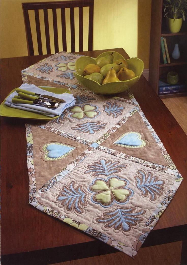 Coffee And Snowcones: Embroidered Table Runner