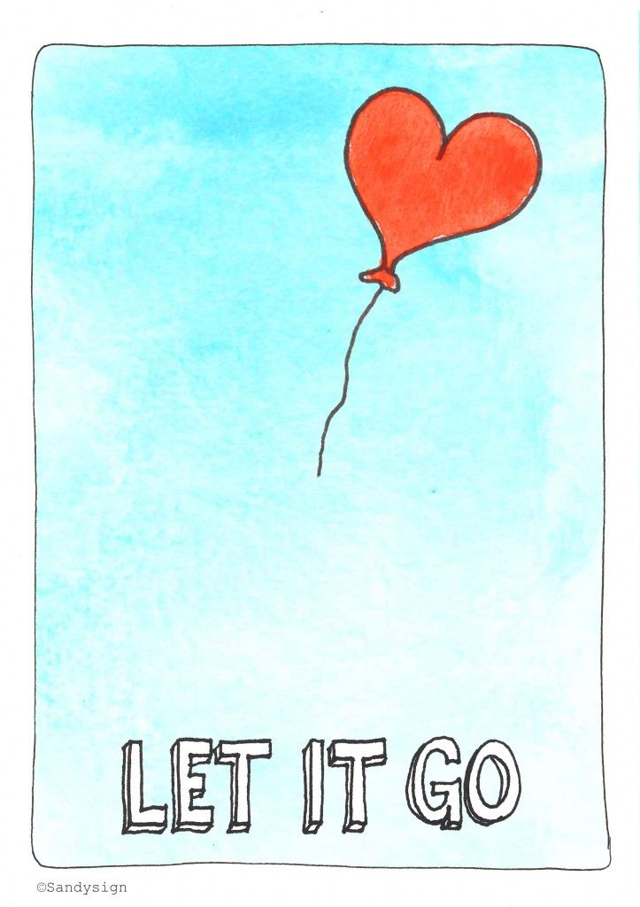 let it go #illustration #quote http://sandysign.nl
