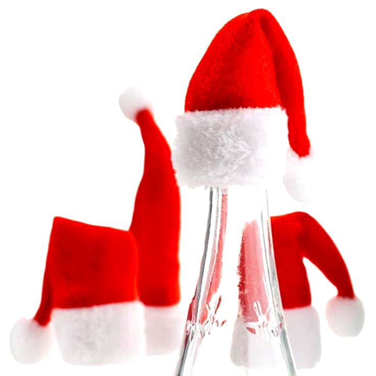 2pcs Fashion Wine Bottle Hat Cover Christmas Cap for Bottles Mouth Santa Claus Xmas Gift Red Christmas Party Decorative Supplier #clothing,#shoes,#jewelry,#women,#men,#hats,#watches,#belts,#fashion,#style
