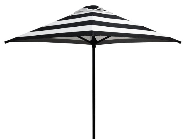 2.1m Square Sunranger Cafe Series Black and White Outdoor Umbrella - Printed Outdoor Umbrellas available at Shade Australia