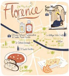 Illustrated Florence, things to do in Florence, guide to Italy, maps, travel Europe