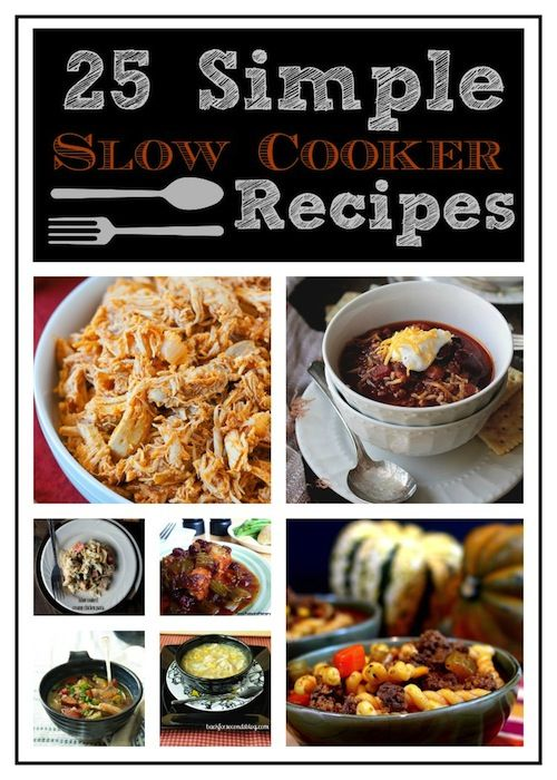 Oh, the weather outside is frightful - and these simple slow cooker recipes are so delightful! #slowcooker #crockpot #snowday