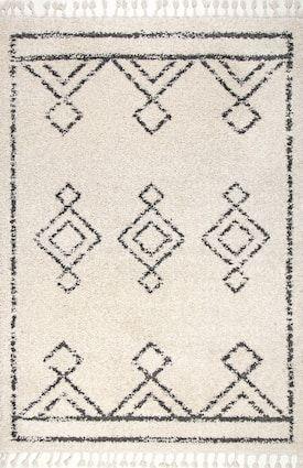 Rugs Usa Off White Temara Moroccan Diamond Drop Tel Rug