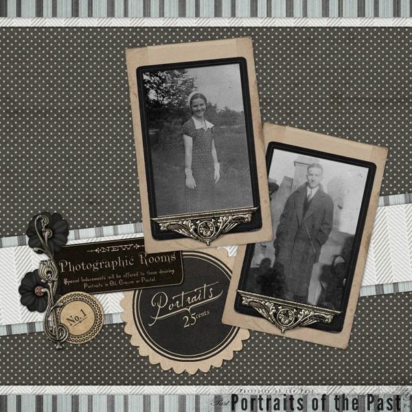 heritage scrapbook - Portraits Heritage Scrapbook Layout