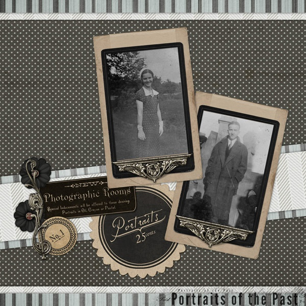 Portraits Heritage Scrapbook Layout by DSP member PQ: Scrapbook Layouts, C Scrapbooking, Genealogy Scrapbooking, Scrapbooking Ideas, Heritage Layout, Heritage Scrapbooking, Scrapbooking Heritage