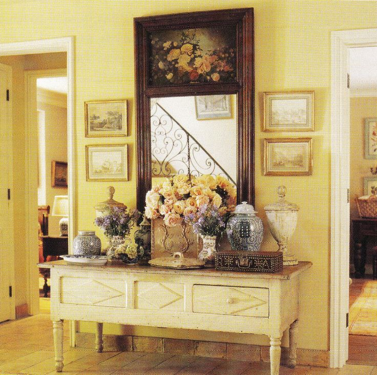 Pin by patricia pitzer young on my french country for Country foyer ideas