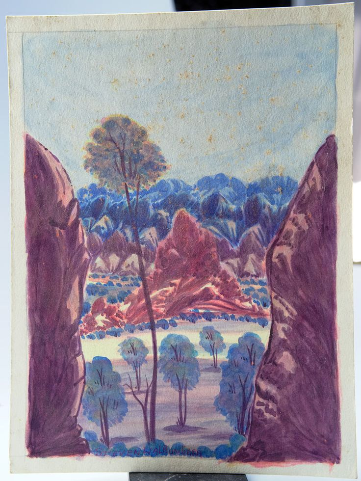Steven Walbungara Aboriginal HERMANNSBURG  WATERCOLOUR PAINTING (Watercolor) #HermannsburgSchool