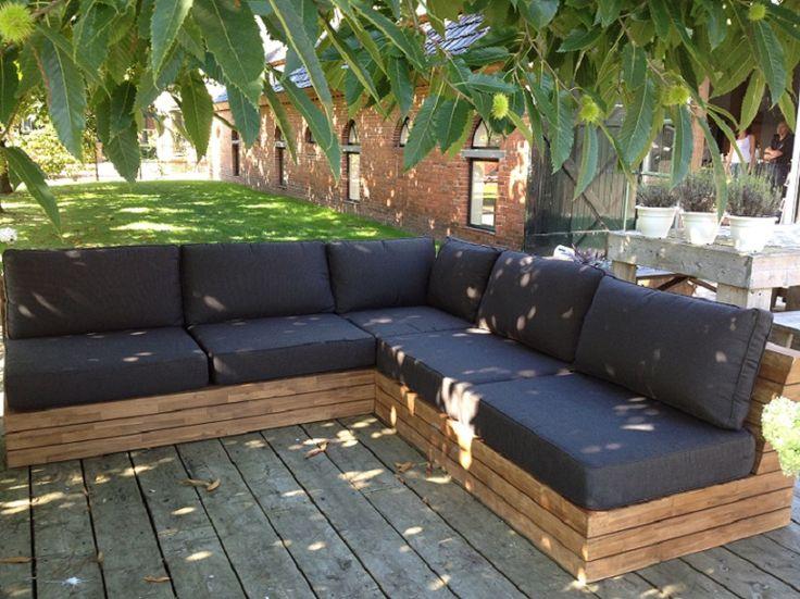 Teakhouten loungeset 2 zit - hoek 2 zit HEM meubel Roden