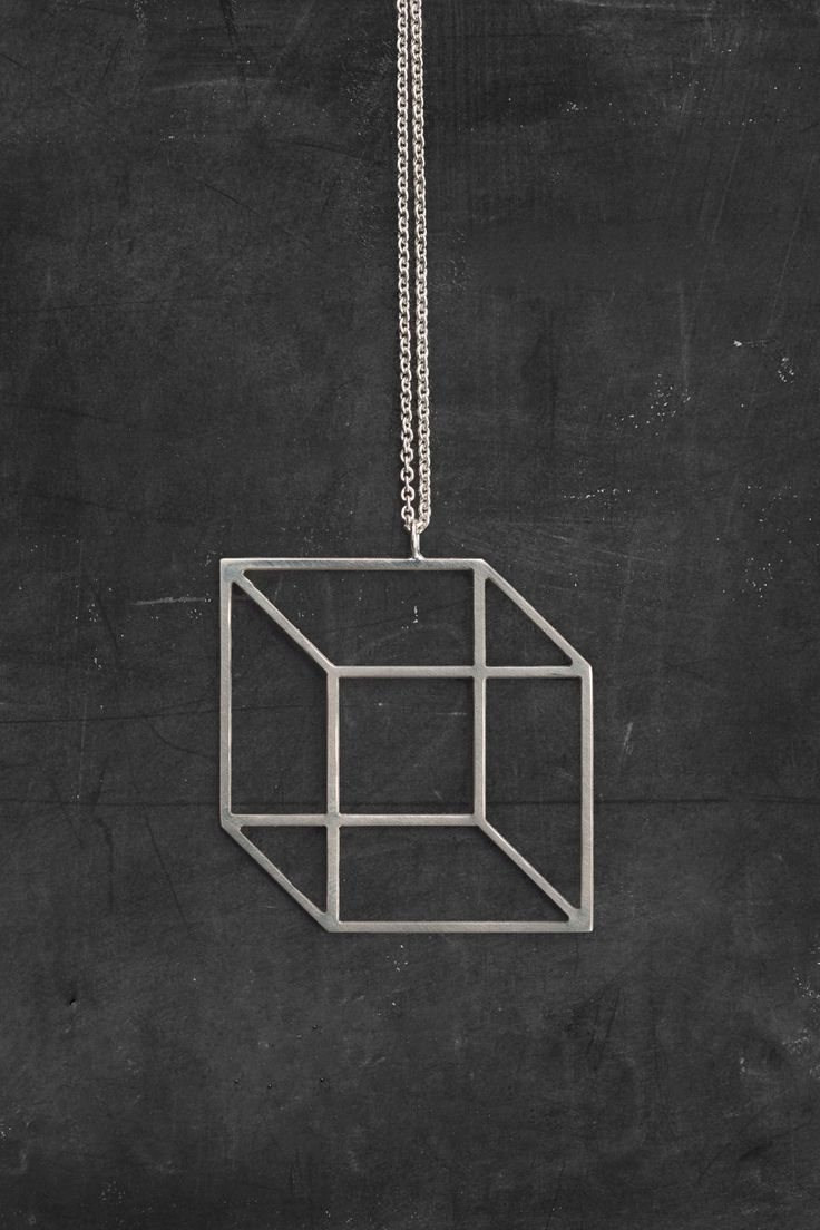 MOODLIKEME - CUBE NECKLACE AVAILABLE IN GOLD/SILVER #cute #silver #gold #necklace #cube #hipster #moodlikeme