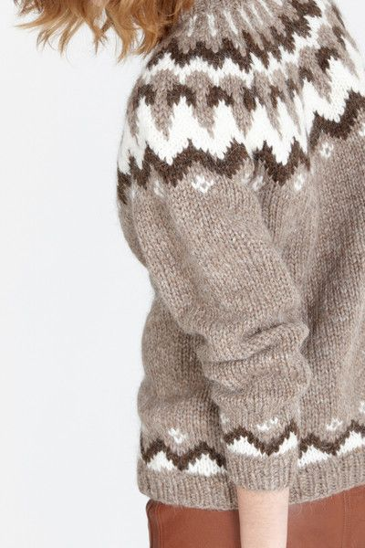 Icelandic Lopi sweater - Folfloore www.folkloore.com  Perfect Winter Sweater!