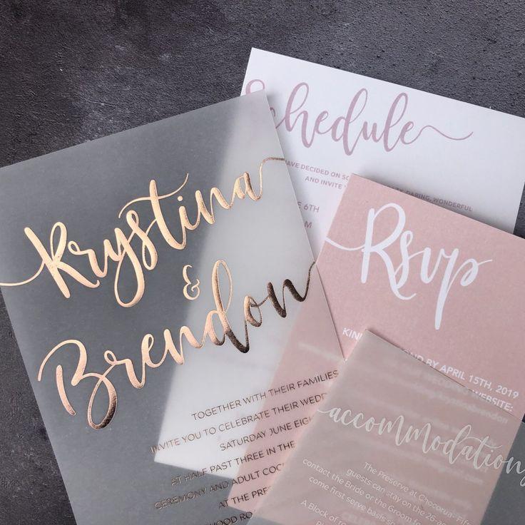vellum wedding invitations – 10 Perfête Wedding Trends for the 2019 Wedding Sea…