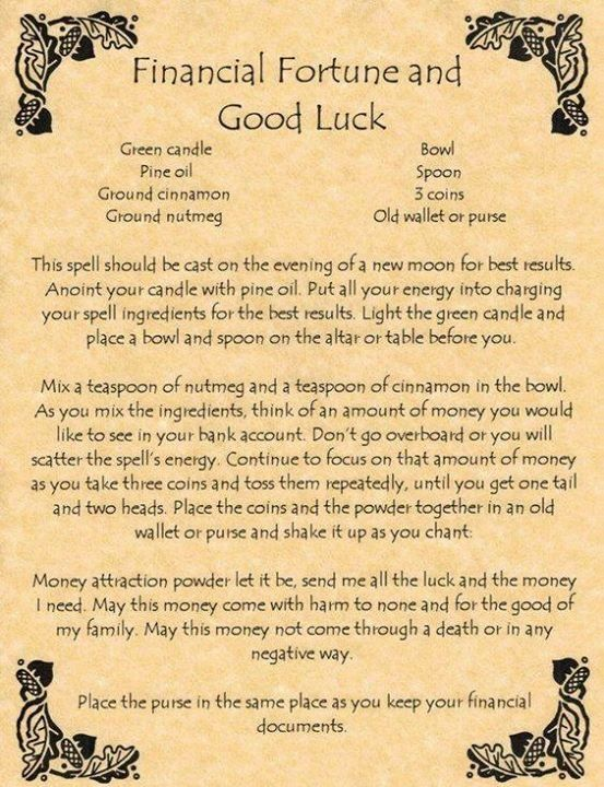 #Spell for fortune and good luck #CroweFeatherWitchDownunder
