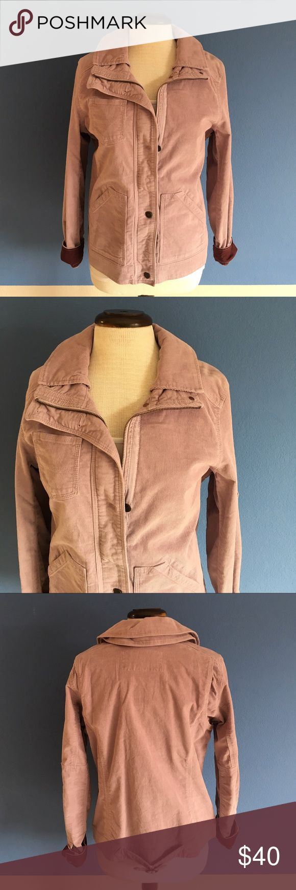 """Eddie Bauer Lavender Corduroy Jacket This jacket is cute and fun.  Perfect for any occasion. Two side pockets and one breast pocket on the front. Pair with jeans. Material:  98% Cotton/2% Spandex. Measurements (Flat): Length - 25""""/Bust - 19""""/Waist - 18.5"""" Eddie Bauer Jackets & Coats"""