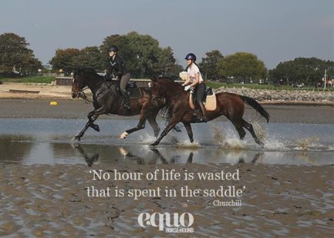"""No hour of life is wasted that is spent in the saddle"" - Churchill #WednesdayWisdom #EquoEvents #Quote"