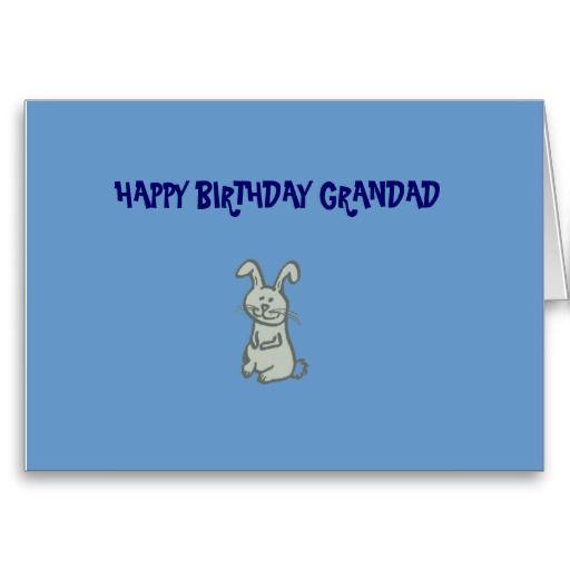 Happy Birthday Grandad Rabbit Card