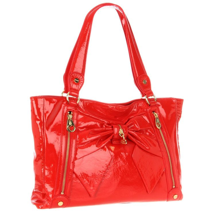 Betsey Johnson Bow Tote - Red Patent - Fashion