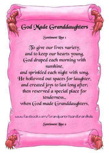GOD MADE GRANDAUGHTERS