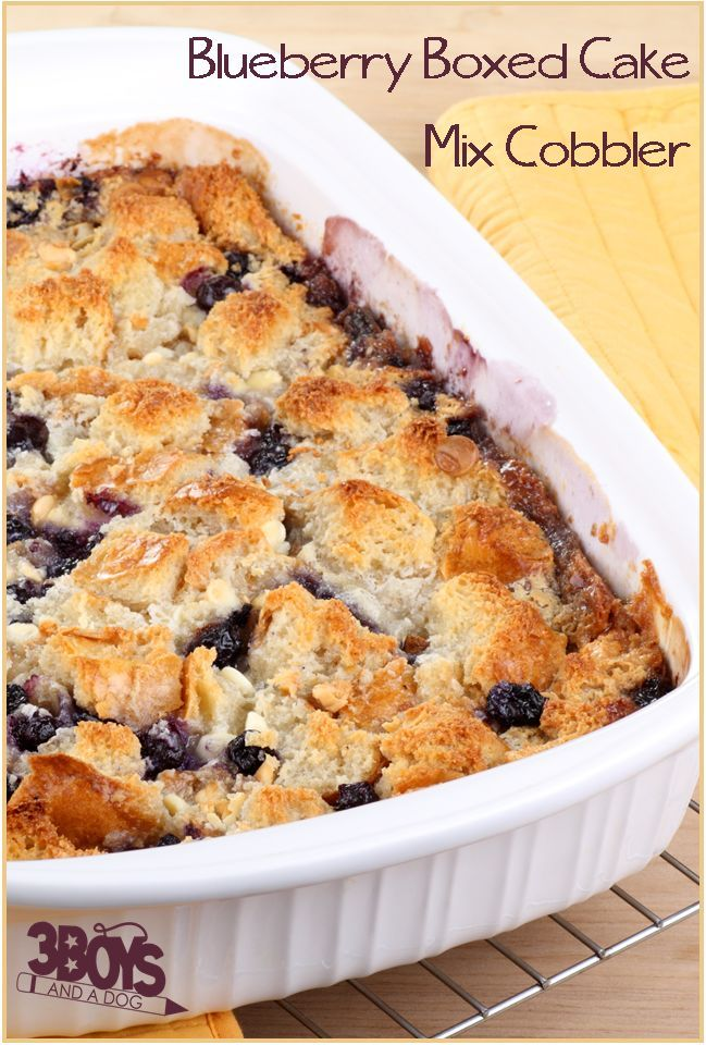 Blueberry Boxed Cake Mix Cobbler