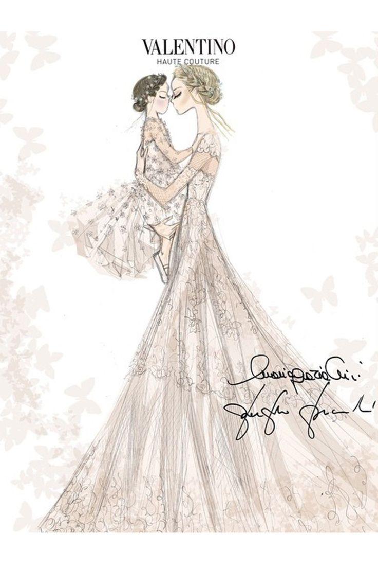 Frida Giannini Valentino Wedding Dress - click through to see wedding photos