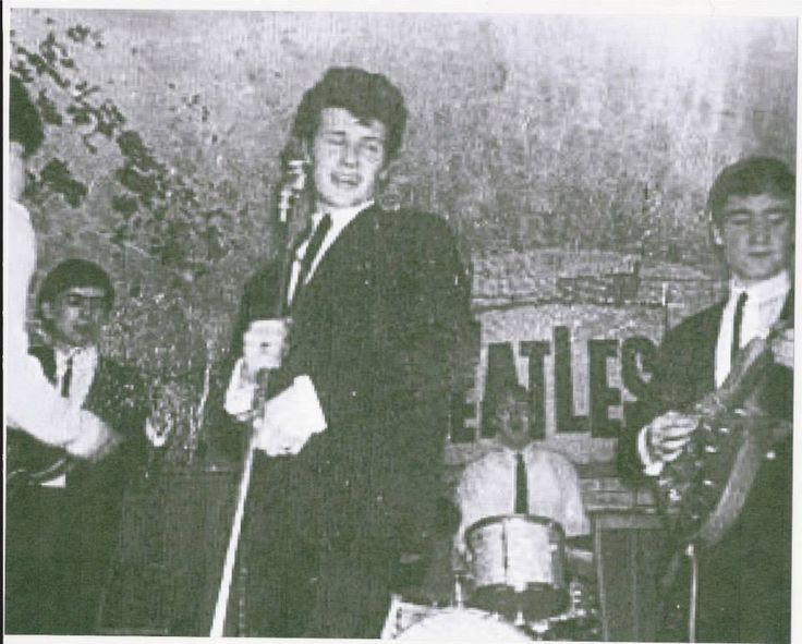 """I don't have a BOARD called """"DANG! You IS STOOPID"""" but if i did... I'd post this first: Pete Best up front & Paul McCartney on the drums at the Cavern... _______ #earlybeatles"""