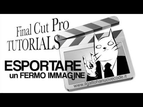 Final Cut Pro X - ESPORTARE UN FERMO IMMAGINE