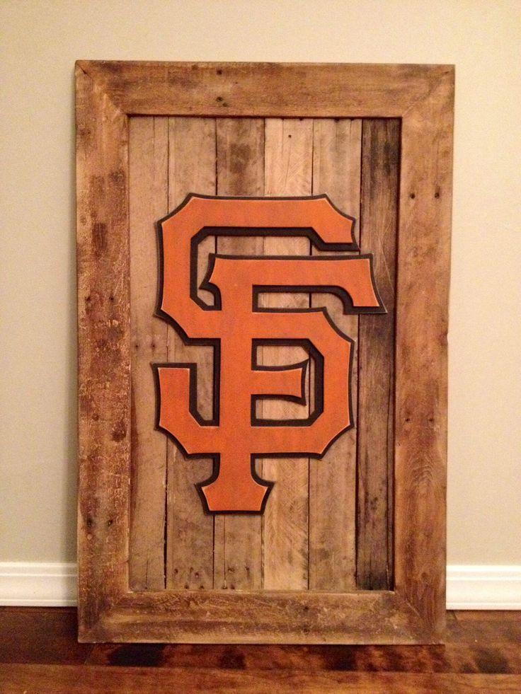San Francisco Giants 3-D wood sign. 3-D sports sign Giants ...