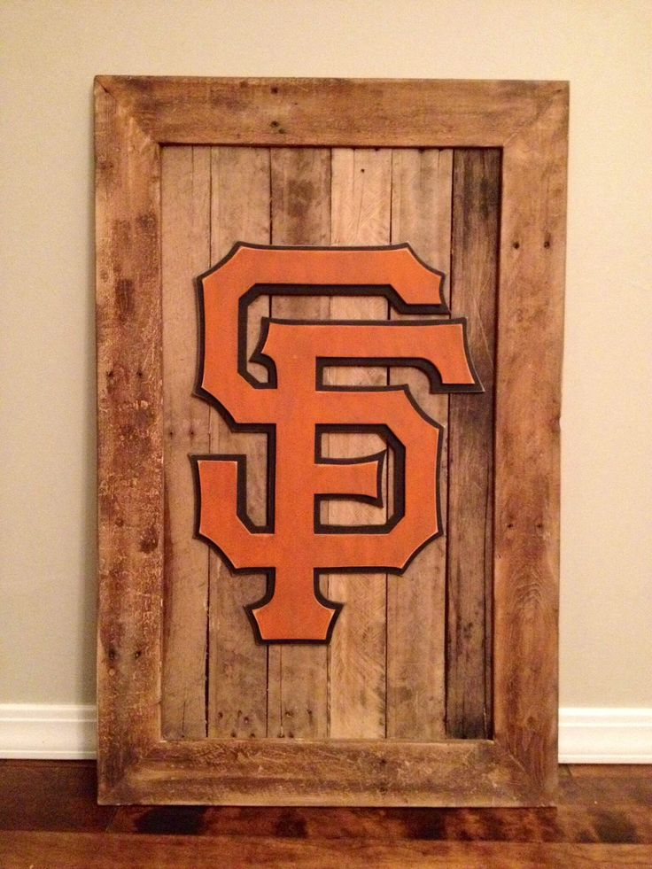 San francisco giants 3 d wood sign 3 d sports sign giants for Reclaimed wood san francisco