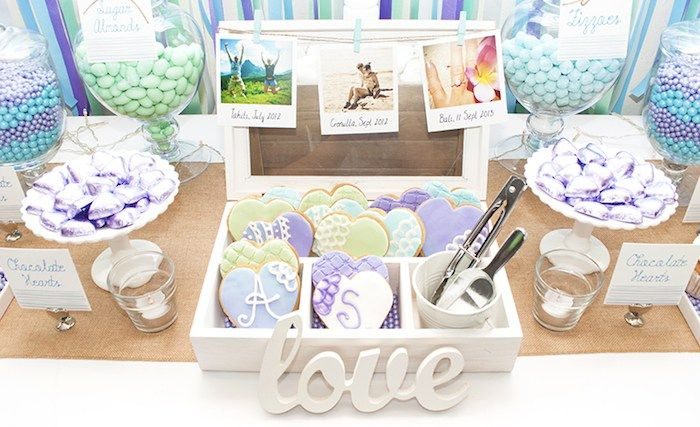 Beach Themed Engagement Party with Such Beautiful Ideas via Kara's Party Ideas…